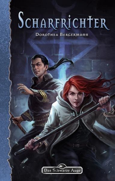 Scharfrichter-Romancover. Der Roman erscheint Winter 2013 bei Ulisses Spiele
